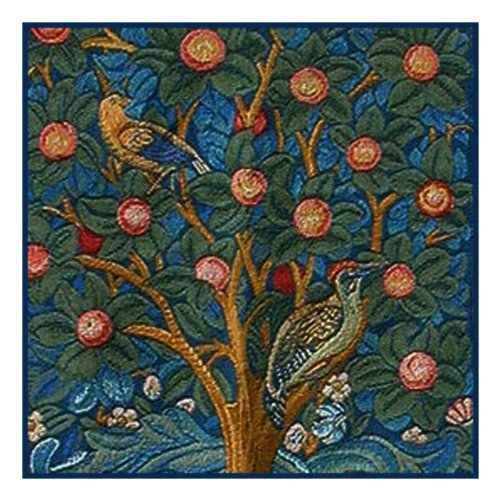 Tree Of Life Detail By William Morris Counted Cross Stitch