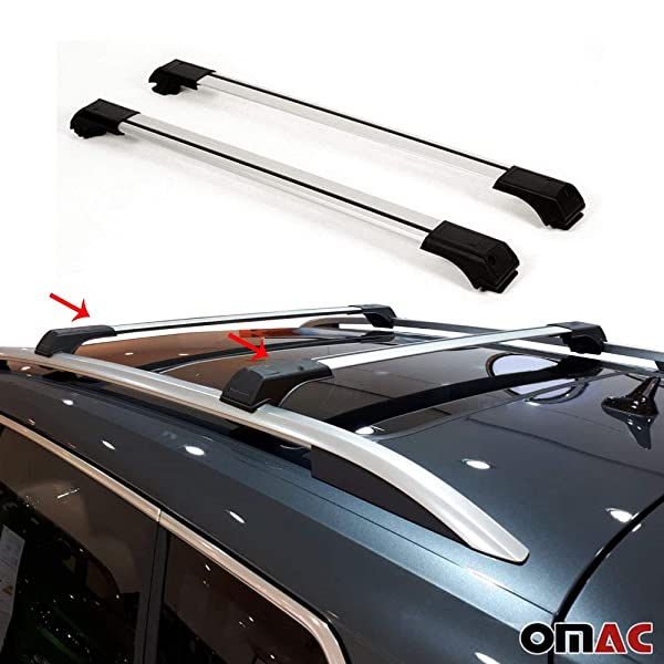 2010+ Black Cross Bar Rail Set To Fit Roof Side Bars To Fit Volkswagen Amarok