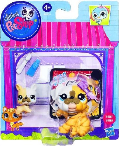 Littlest Pet Shop Figures Bulldog & Baby Bulldog (Lps Bulldog Puppy compare prices)