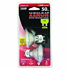 Feit Electric BPXN50MR16/GU10/2 Xenon MR16120-Volt Bulb, 2 Pack