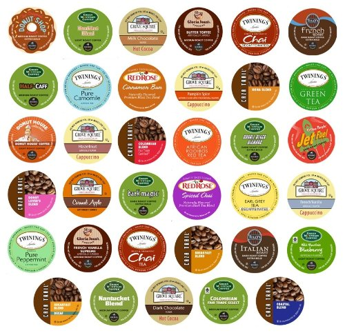 Everything Variety Unique 35-Count Variety Pack, Single-Cup Portion Pack Sampler for Keurig K-Cup Brewers