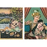 Emperor Akbar With His Consort Maryam - (Set Of Two) - Reprint On Card Paper - Unframed