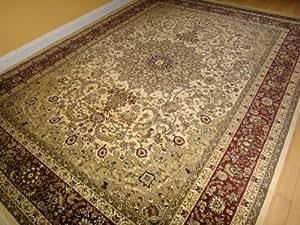 Amazon Com Large 8x11 Ivory Persian Shiraz Style Rug