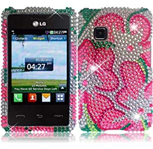 Amazon.com: For LG 840G LG840G Full Diamond Bling Cover Case Green