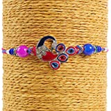 Gifts Online Exclusive Peacock Rakhi Collection With Roli Chawal Chandan Mishri And Red Moli.Design (Peacock 11...