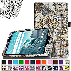 Fintie LG G Pad F 8.0 / G Pad II 8.0 Folio Case - Premium PU Leather Cover [Fit (4G LTE AT&T Model V495 / T-Mobile V496 / US Cellular UK495) & G Pad 2 8.0 V498] 8-Inch Tablet, Map White