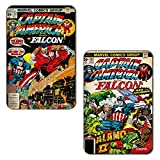 Marvel 'Captain America and Falcon' Rectangular MDF Fridge Magnet (7.5 cm x 10 cm, Set of 2)