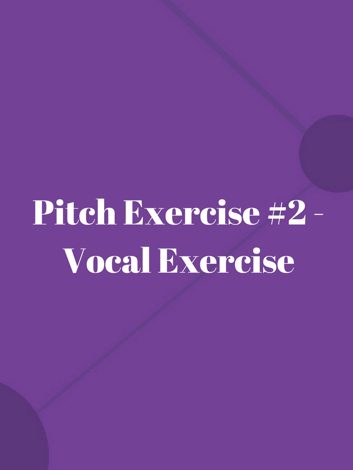 Pitch Exercise #2 on Amazon Prime Instant Video UK