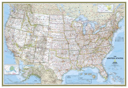 National Geographic USA Classic Wall Map (70