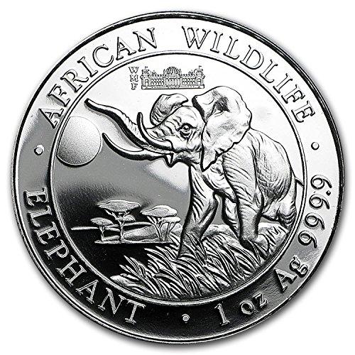 2016 DE Somalia 1 oz Silver Elephant (Berlin WMF Privy Mark)