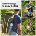 NeatPack 3 in 1 Foldable, Nylon Duffle Bag Backpack for Travel, Work, Sports, Camping, Gym & Carry On Luggage, 35L | For Men, Women, Teens & Kids