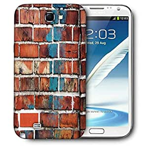 Snoogg Brick Wallpaper Printed Protective Phone Back Case Cover For Samsung Galaxy Note 2 / Note II