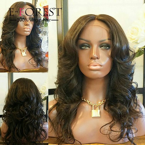 E-forest-hair-4x4-Silk-Top-Lace-Front-Wig-Glueless-Virgin-Brazilian-Remy-Human-Hair-Middle-Part-Body-Wave-130-Density-With-Baby-Hair-For-Women-12-inchnatural-color-wig