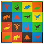 Tadpoles Playmat Set 16-Piece Dino, M...