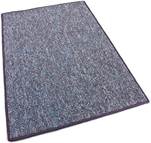 5'X5' SQUARE - Sapphire - Indoor/Outdoor Area Rug Carpet, Runners & Stair Treads with a Premium Nylon Fabric FINISHED EDGES.