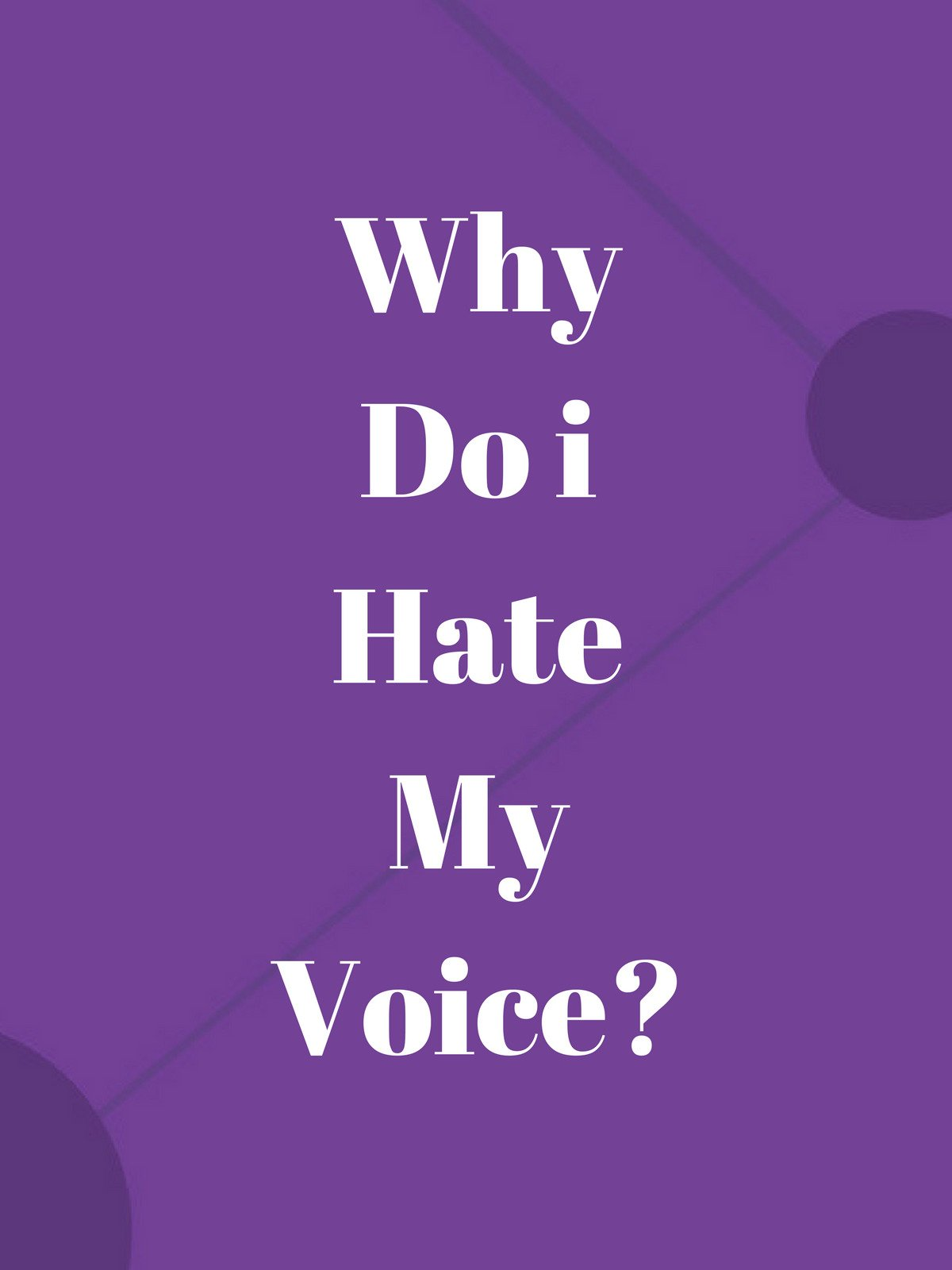 Why Do i Hate My Voice? on Amazon Prime Video UK
