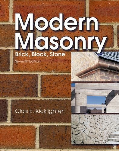 Modern Masonry: Brick, Block, Stone - Goodheart-Willcox Co - 1605252433 - ISBN:1605252433
