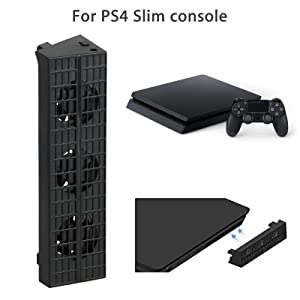 Linkstyle Cooling Fan for PS4 Slim, USB External Cooler 3 Fan Turbo Temperature Control for Sony Playstation Slim Gaming Console (Tamaño: For ps4 Slim)