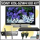 Sony Bravia W-Series KDL-52W4100 52-inch 1080P LCD HDTV + Sony DVD Player Wall Mount Accessory Kit