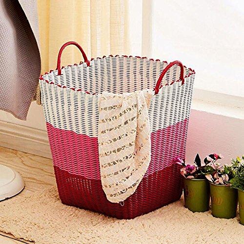 piazza-di-plastica-cestino-tessuto-sporchi-di-vestiti-bagagli-carrello-giocattolo-botti-7-colori-opz