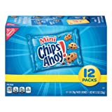 Chips Ahoy! Mini Chocolate Chip Cookies Snack Packs, 12 Count Box (Pack of 2) (Tamaño: 24 Count)