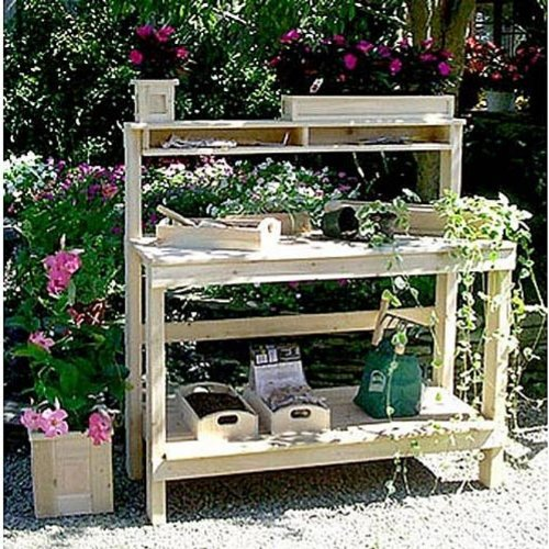 Cedar Wood Creek Valley Potting Bench