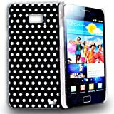Phonedirectonline - Black and White (dot) design hard case cover for Samsung galaxy s2 i9100