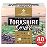 Taylors of Harrogate Yorkshire Gold Tea Bags 80 per pack