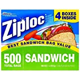 Ziploc Sandwich Bags, 125 Count (Pack of 4)