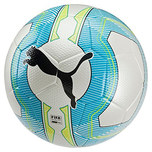 Pallone da calcio PUMA ultima 2,3 Match FIFA Appr, White/Atomic Blue/safety Yellow, 5, 082553 01