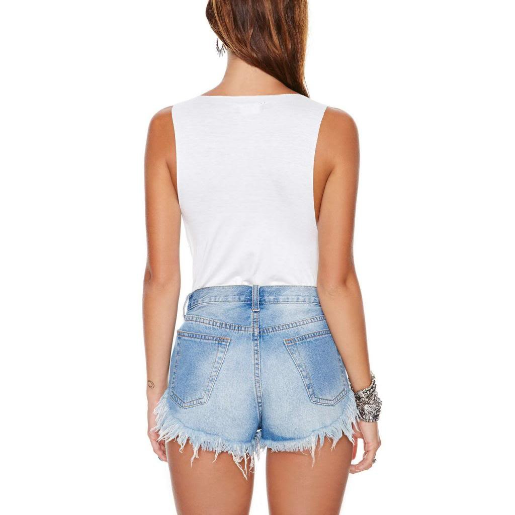 Women's Vintage Levi Shorts Fray Cut Off Denim Distressed High Waisted 1