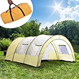 TecTake Tente tunnel de camping famille Imperméable 4 - 6 personnes