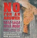 NO FOR AN ANSWER (1941 ORIGINAL CAST LP VINYL, 1982 REISSUE)