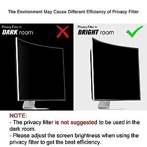 Ovimir 23.8 Inch (Diagonally Measured) Computer Privacy Screen Filter, [16:9 Aspect Ratio] for Widescreen Monitors Anti-Glare - Anti-Scratch Screen Protector - (WxH:525mmx295mm) (Color: 23.8 inch Widescreen (16:9 Aspect Ratio))