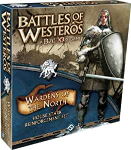 Battles of Westeros: A Battlelore Game: Wardens of the North: House Stark Reinforcement Set [With 32 Cards and 32 Plastic Figures and Bases, 10 Banner