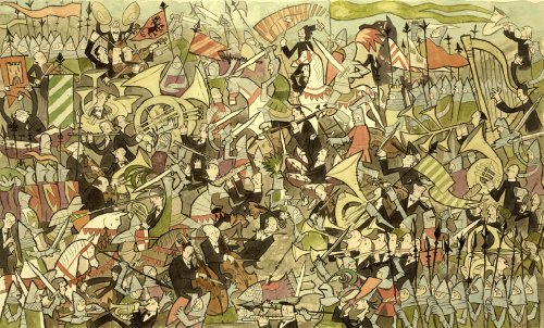 Artifact Puzzles - Scott Campbell Supreme Battle Wooden Jigsaw Puzzle