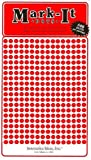 "Map Dot Stickers - Red - 1/8"" Diameter"