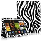 SUPCASE Amazon All-New Kindle Fire HDX 7 Slim Fit Folio Leather Case (Zebra Black) - Elastic Hand Strap, Not Compatible with All New Kindle Fire HD 7/Kindle Fire HD 7 (2012 Version)/Kindle Fire HDX 8.9