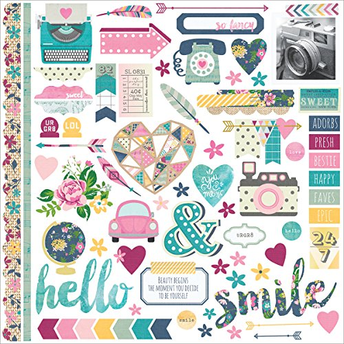 """Simple Stories Fundamentals So Fancy Cardstock Stickers, 12"""" by 12"""""""