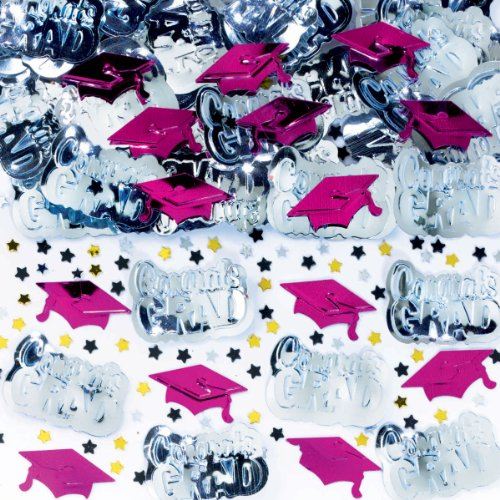 Graduation Burgundy Metallic Confetti 2 1/2oz - 1