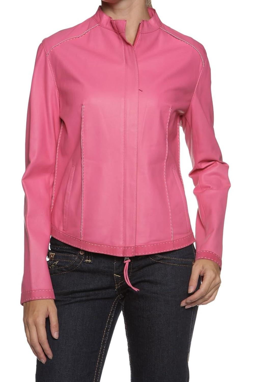 Cristiano di Thiene Sartoria Privata Damen Jacke Lederjacke TI, Farbe: Pink günstig online kaufen
