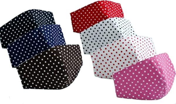Anti Pollution Dust PM2.5 Mouth Mask Washable and Masks for Children Men and Women (DOTS-White) (Color: DOTS-White)