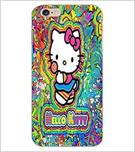 PrintDhaba Kitty D-5551 Back Case Cover for APPLE IPHONE 6S (Multi-Coloured)