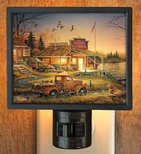 Total Comfort Scenic Country Store Gallery Art Night Light by Terry Redlin