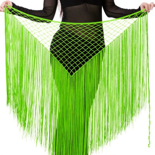 Dance Fairy Fruit Green Argentina Triangle Indian Dance hip scarf belt waist chain