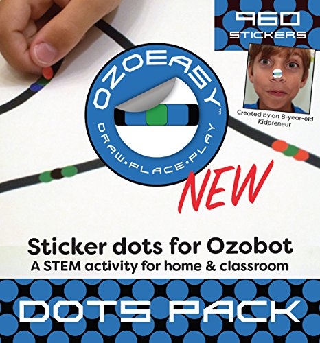 오조봇 코딩용 스티커 - Ozoeasy Sticker Codes (Dots Pack) for use with Ozobot