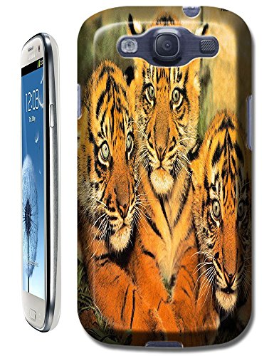 Lovely Power Tigers Cases Covers Phone Hard Back Cases Beautiful Nice Cute Animal Hot Selling Cell Phone Cases For Samsung Galaxy S3 # 8