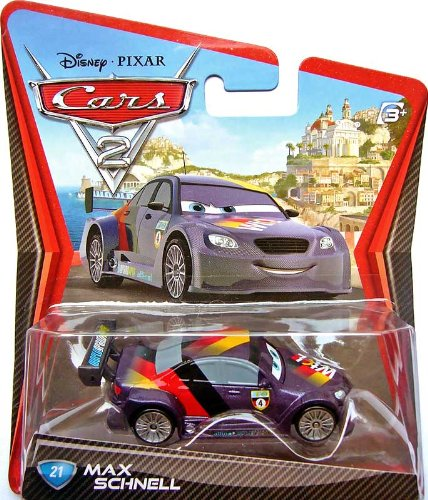 Disney/Pixar Cars 2, Movie Die-Cast Vehicle, Max Schnell #21, 1:55 Scale - 1