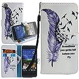 Dooki, HTC Desire 825 Hülle, Ständer Brieftasche Flip PU