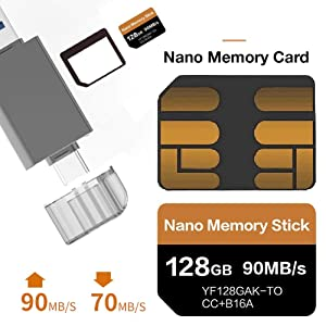 NM Card 128GB for Huawei Mate20 P30 Smart Phone, Nano Memory Card Compact Flash Card Mobile Phone Accessories only Suitable for Huawei P30P30pro and Mate20 Series (Color: NM Card)